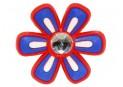 Pin's, Pin'zz Fleur Diamant Bleu Rouge