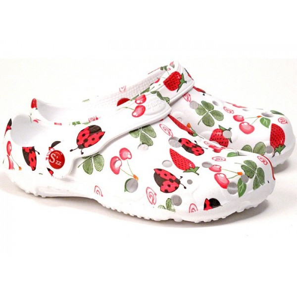 sabot plastique femme schuzz globule fraises sabotland. Black Bedroom Furniture Sets. Home Design Ideas